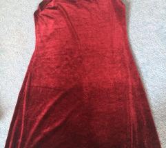 Vörös bársony kisruha állítható pánttal