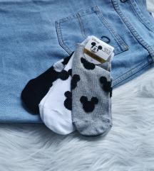3 pár Mickey zokni Új