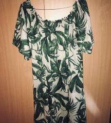 H&M levélmintás ruha