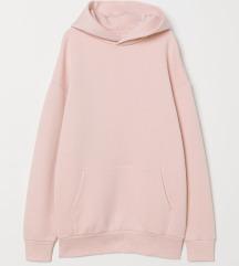 Oversize pink kapucnis pulcsi