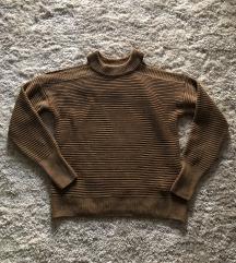 Barna kötött pulóver