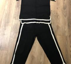 Zara knit fekete szett nadrág felső