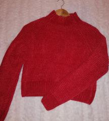 AKCIÓ❗H&M vadonatúj kötött piros pulcsi
