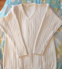 Fehér hosszított pulóver