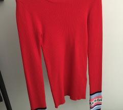 Guess piros vékony pulóver - címkés