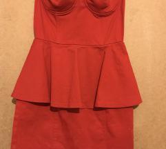 Piros H&M peplum ruha