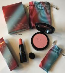 Blush, eyeshadow trio palette + rouge