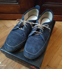Velùr bőr félcipő kék cb1306b731