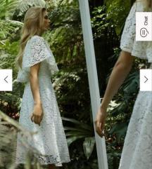 Mohito Fehér csipke ruha S