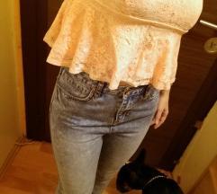 Bershka crop top és mom jeans