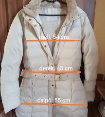 Krémszínű pufi kabát ELADVA