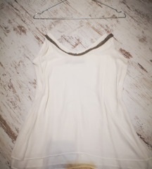 Zara tört fehér top