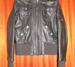 Gipsy fekete női valódi bőrdzseki bőr kabát S