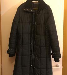 Fekete hosszú téli kabát