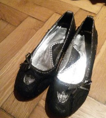 Fekete-szürke csillogós topán