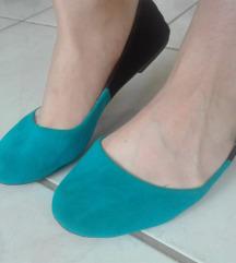 Kék-fekete balerina cipő