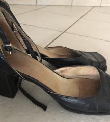 Fekete bőr cipő