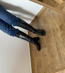 Valódi bőr csizma - fekete 35-ös