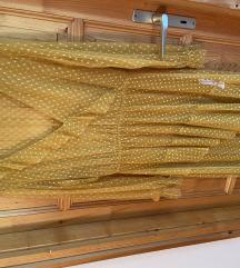 Sárga Fehérpöttyös ruha