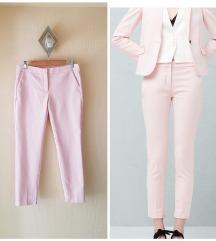 MANGO suit rózsaszín egyenes szárú öltönynadrág M