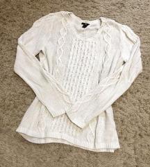 Fehér kötött pulóver (H&M)