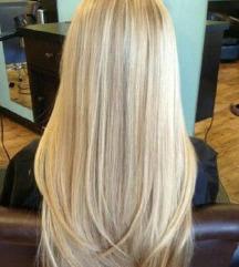 nem fényes 613 platina szőke 5 csatos haj 60 cm