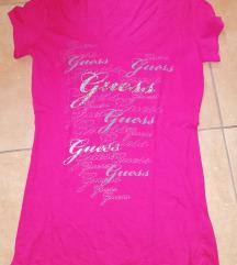 Eredeti Guess strasszos pink póló