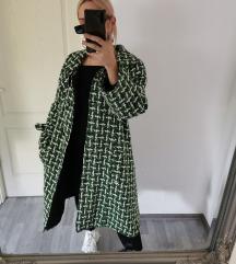 Vintage midi szövet kabát M/L 💚