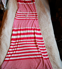 Piros-fehér csíkos ruha