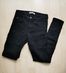Pull&bear fekete farmer nadrág