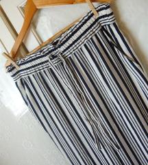 ❤ Újszerű sötétkék csíkos Zara paperbag nadrág