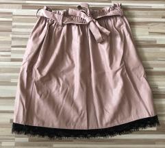 rózsaszín bőrhatású szoknya