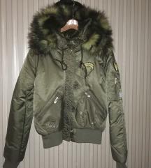 Kályhameleg új bomber kabát M-L