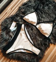 Cimkes fekete feher bikini