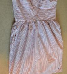 pánt nélküli csíkos nyári rövid ruha