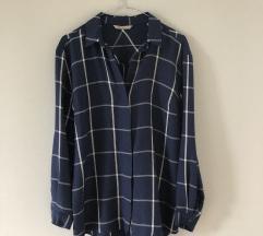 Kék fehér kockás mintás ing