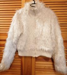 Fehér műszőr kabát S méret