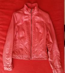 Rózsaszínű műbőr dzseki M-es méret