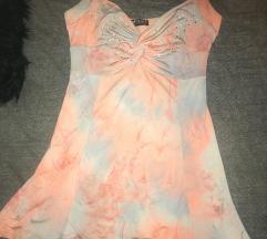 Amnesia batikolt strasszos ruha