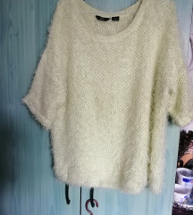 Sárgászöld pihe puha pulóver 42._44