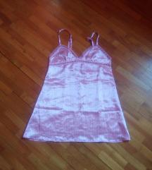 Takkos szatén rózsaszín hálóing M/L