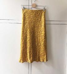 Sárga virágmintás szoknya