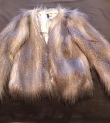 Hosszú szőrű szőrme kabát H&M