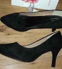 Gyönyörű új, velúr h. vegán cipő