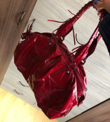 Piros pakolós A4 táska