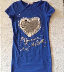 Flitteres, szívecskés kék ruha