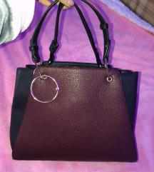 Fekete bordó táska