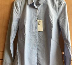 Kék-fehér pöttyös női ing
