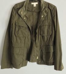 h&m khaki kabát dzseki új