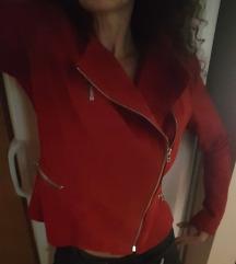 Újszerű hibás valódi bőr rubinvörös kabi